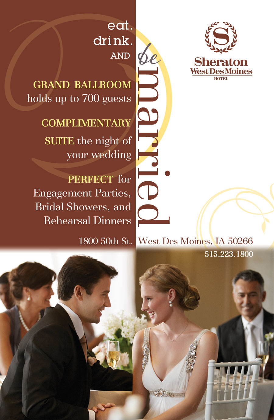 Wedding Ad for Sheraton West Des Moines