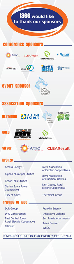 IAEE Lobby Sponsor Banner for 2015 Conference Event