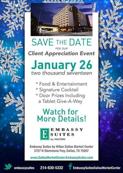 Embassy Suites Save the Date Card